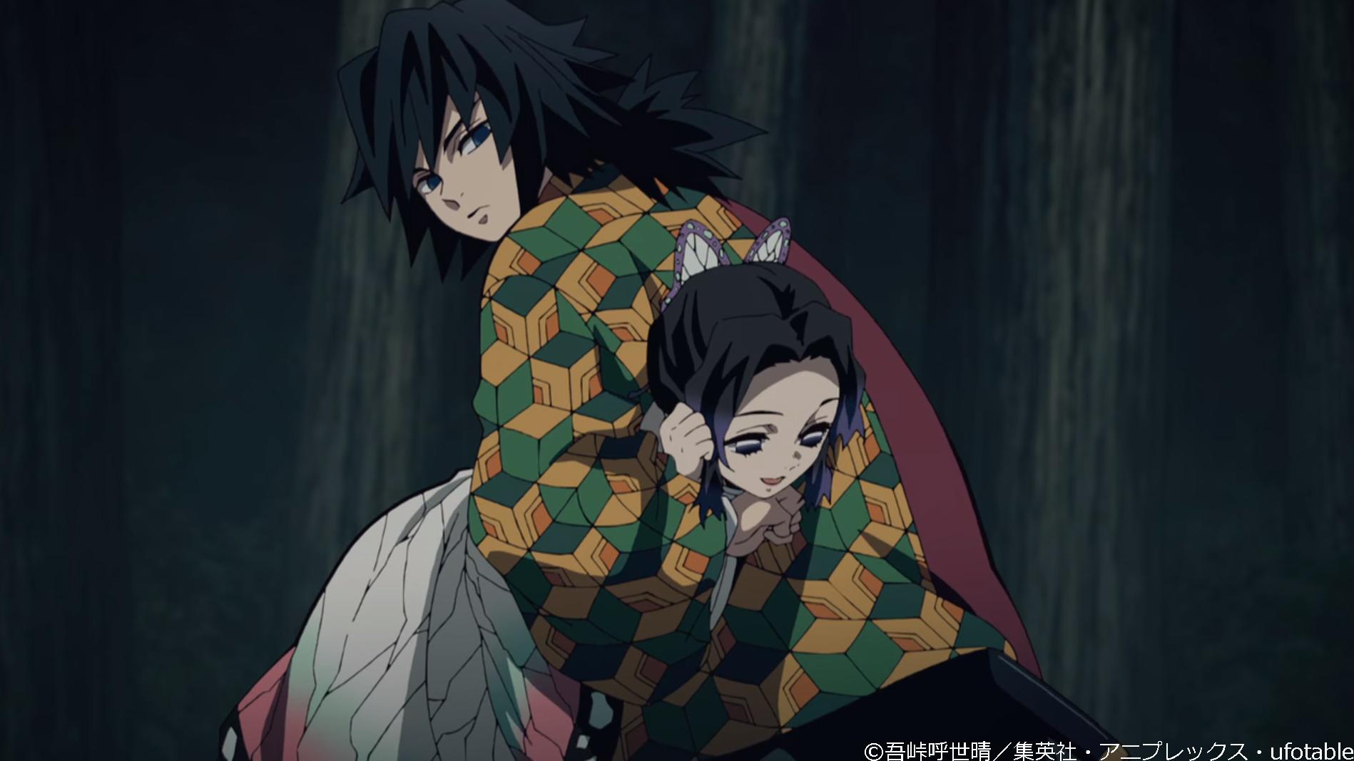 鬼滅の刃アニメ20話胡蝶しのぶ冨岡義勇