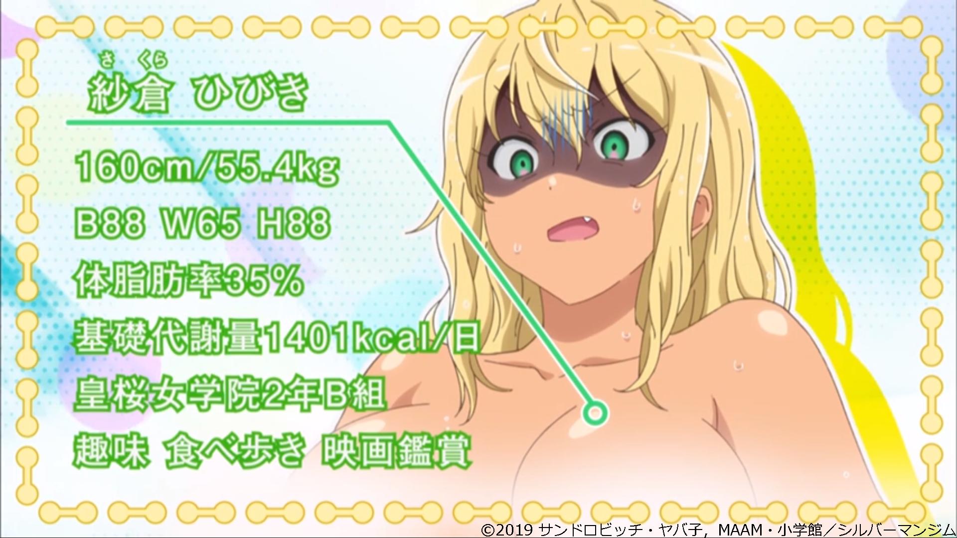 ダンベル何キロ持てる?紗倉ひびきアニメ画像