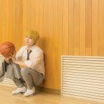 黒子のバスケ黄瀬涼太コスプレ海常アニメ版グレー制服体育館スタジオ