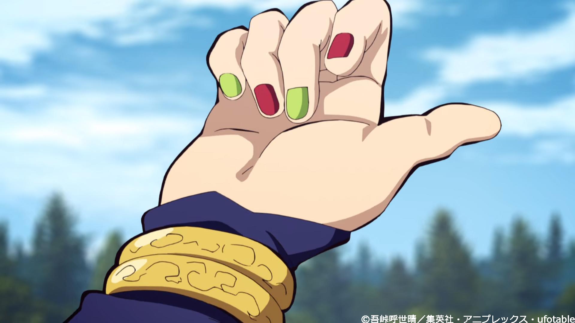 鬼滅の刃宇髄天元ネイル爪ブレスレットアニメ画像