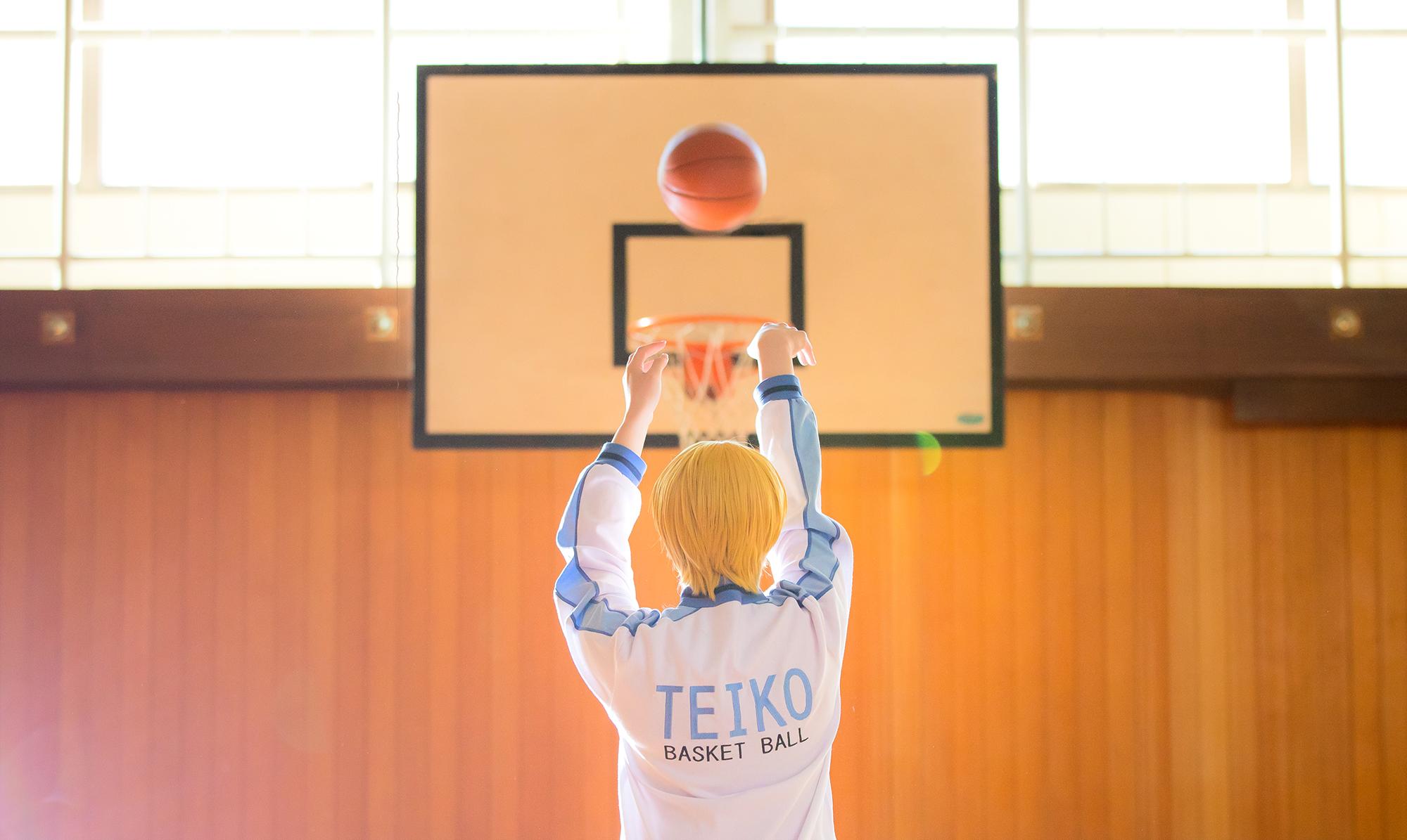 黒子のバスケ黄瀬涼太コスプレ帝光ジャージ体育館ロケバスケットゴール